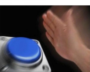 Create meme: blue button meme original, nut button, arm or leg