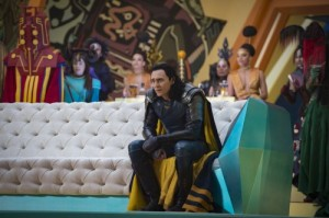 Create meme: Thor Ragnarok Still of Loki Watching the Fight