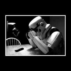 Создать мем: star wars, stormtrooper, sad