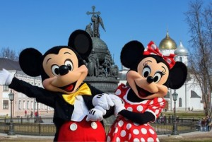 Create meme: Mickey and Minnie mouse in Veliky Novgorod 3 Oct 2015