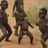 Create meme: African children dancing , african children , gambar lucu