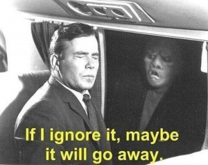 Create meme: maybe if i ignore it maybe it will go away, william shatner if i ignore, if i ignore it maybe it will go away original