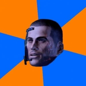 Create meme: Chilled out Shepard , commander shepard