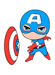 Создать мем: captain america, мини капитан америка, капитан марвал рисунок чиби