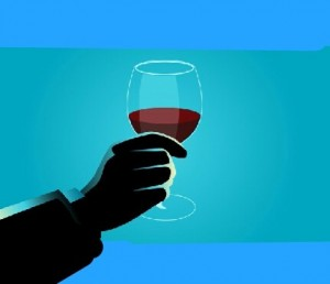 Create meme: vino , hand holding a glass of wine, hand with glass-vector