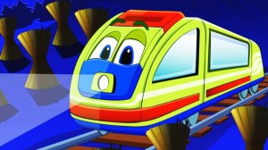 Create meme: wheels on the bus, cartoons about trains for kids, train from