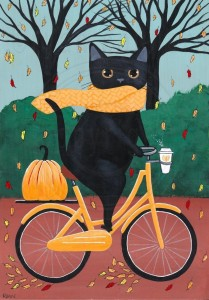 Создать мем: ginger cat, black cat, folk art