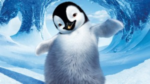 Create meme: the penguin GIF, pictures on a desktop penguins, penguin in the water