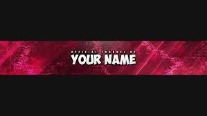 Create meme: banner for YouTube 2048 x 1152 your name, banner for YouTube psd, rot-red-banner-no-text-template