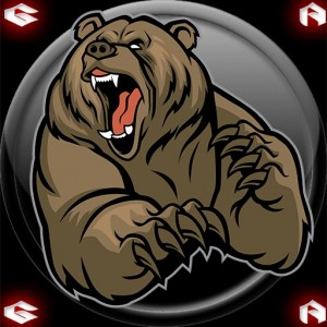 Create meme: grizzly bear vector, grizzly cartoon, bear vector