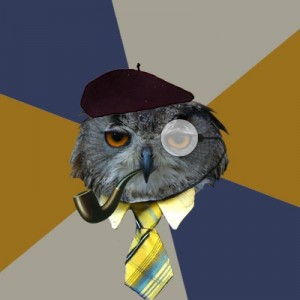 Создать мем: Art Professor Owl, mr owl, owl art