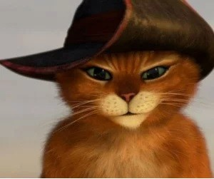 Create meme: the cat from puss in boots pictures, puss in boots face, puss in boots