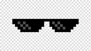 Create meme: pixel glasses , thug life glasses with no background, pixel points on a transparent background