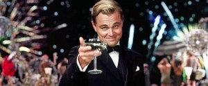 Create meme: DiCaprio with a glass photo, DiCaprio champagne, Leonardo DiCaprio the great Gatsby