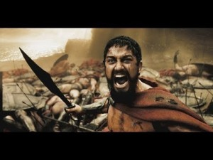 Create meme: Spartan , meme this is Sparta , 300 Spartans