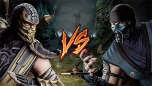 Создать мем: mortal kombat x scorpion vs sub zero, mortal kombat 9, mortal kombat x scorpion and sub zero