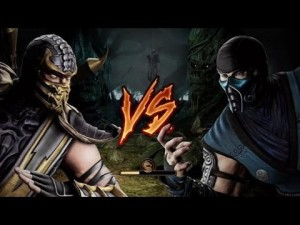 Создать мем: Scorpion vs subzero