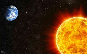 Create meme: The sun star is close to the earth in space