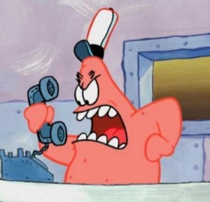 Create meme: no this is patrick , Patrick at the Krusty Krab