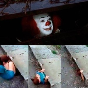 Create meme: clown , Pennywise, memes with the clown from it