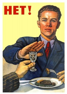Create meme: poster of the USSR no, don't drink , poster