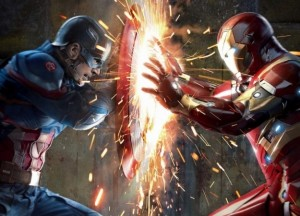 Создать мем: captain america civil war wallpaper, iron man vs captain america, clash captain america civil war