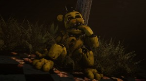 Создать мем: Five Nights at Freddy's 3, фредбер голден фреди, withered golden freddy
