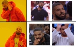 Create meme: meme talking about Drake, drake meme, drake meme template