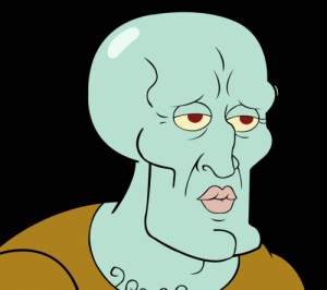 Создать мем: Beautiful Squidward Of SpongeBob
