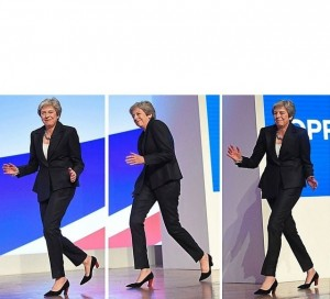 Create meme: theresa may dancing, also white people, male