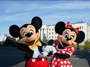Create meme: Mickey and Minnie mouse in Pskov 3 Oct 2015