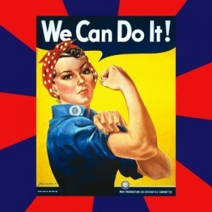 Создать мем: Rosie the Riveter, we can do it, rosie the riveter