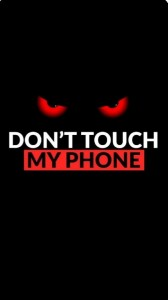 Create meme: don't touch my phone Wallpaper black, dont touch, red eyes on black background