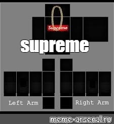 Roblox Shirt Template Supreme - Wholefed org