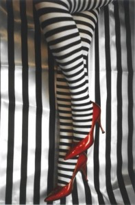 Create meme: tights , red shoes, stripe