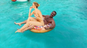 Create meme: swimming pool , hotel couples beach, a guy and a girl in the pool