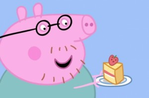 Create meme: Daddy pig