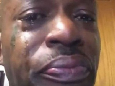 Pic of a black man crying
