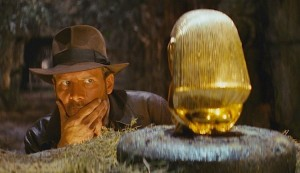 Create meme: raiders of the lost ark , harrison ford , Indiana Jones treasure