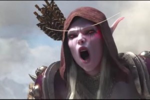 Create meme: Sylvanas-Banshee battle for azeroth, battle for azeroth cinematic, battle for azeroth banshee queen reactions