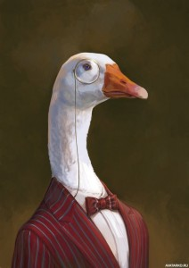 Create meme: goose home, goose , goose with wreath