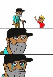 Создать мем: мемы про дедушку, комиксы мемы, мем про деда и внука