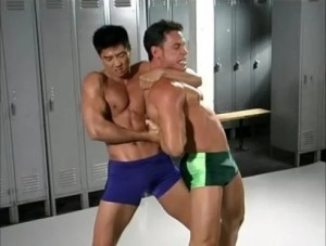 Создать мем: гачимучи бой, gachimuchi boss of this gym, lord of the locker room gachimuchi
