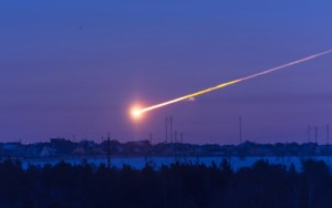 Создать мем: The asteroid in the sky flies into the earth