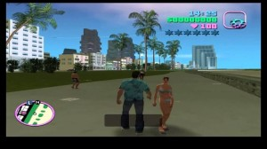 Создать мем: gta sa, gta vcs, gta vice city tec 9