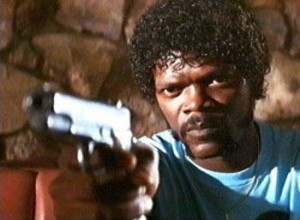 Создать мем: samuel l jackson, pulp fiction, nigger