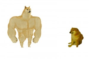 Create meme: Toy, cheems and muscular doge meme, template meme doge inflated